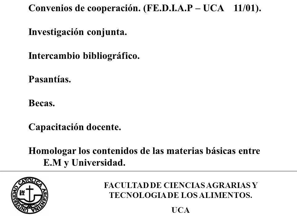FACULTAD DE CIENCIAS AGRARIAS Y TECNOLOGIA DE LOS ALIMENTOS.