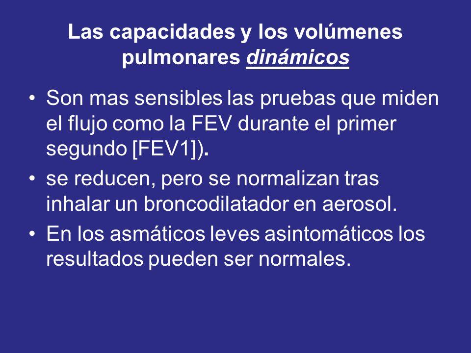 Las capacidades y los volúmenes pulmonares dinámicos