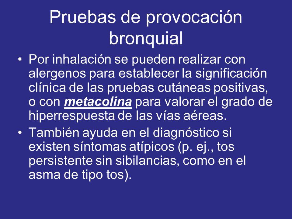 Pruebas de provocación bronquial