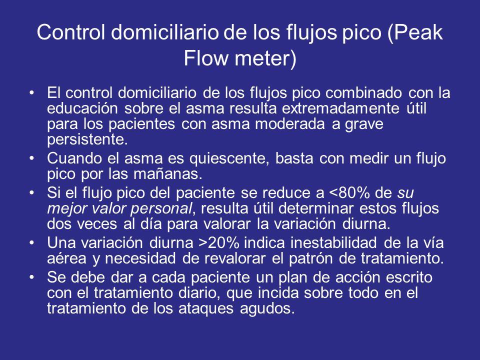 Control domiciliario de los flujos pico (Peak Flow meter)