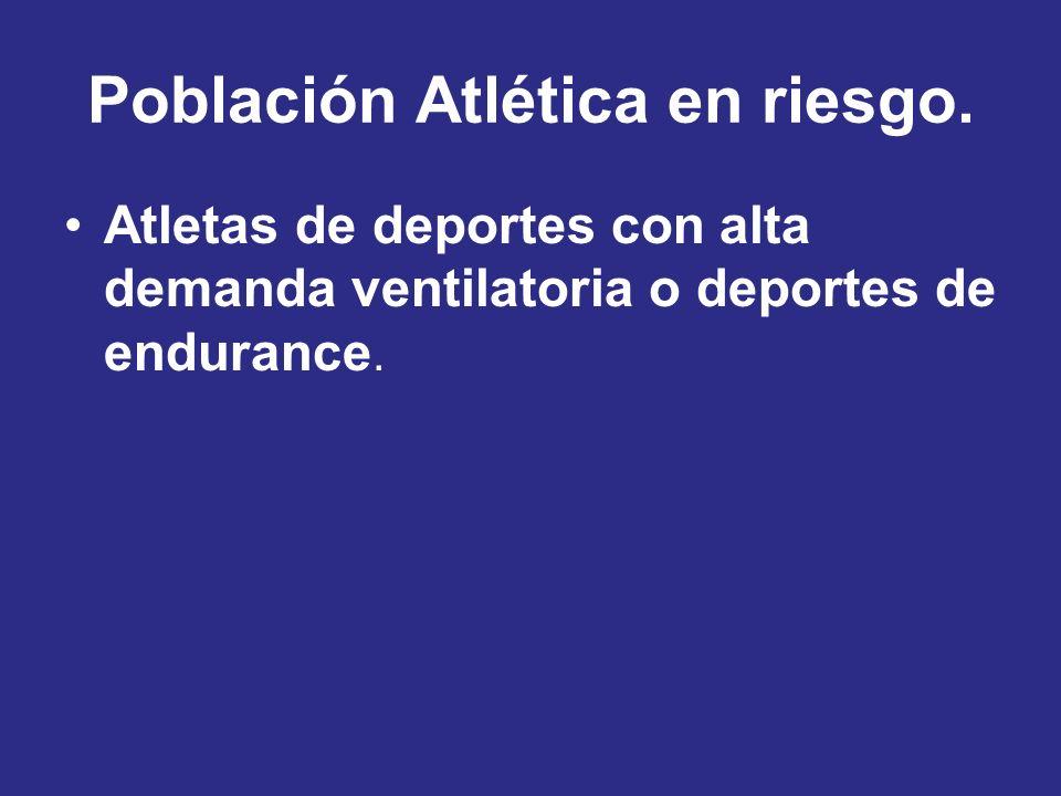 Población Atlética en riesgo.