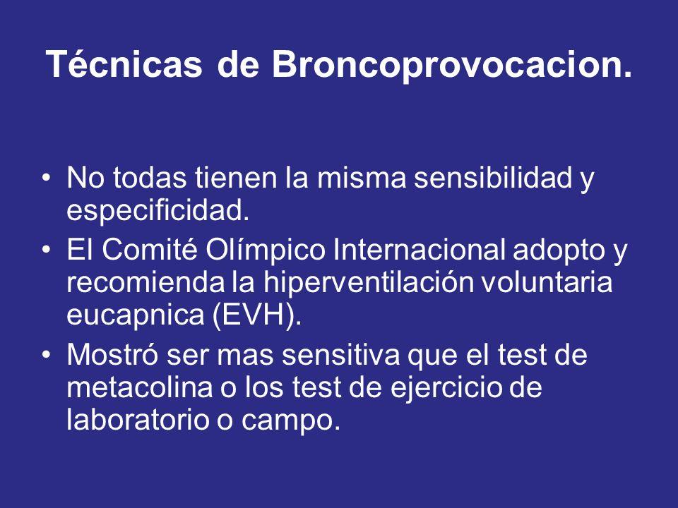 Técnicas de Broncoprovocacion.