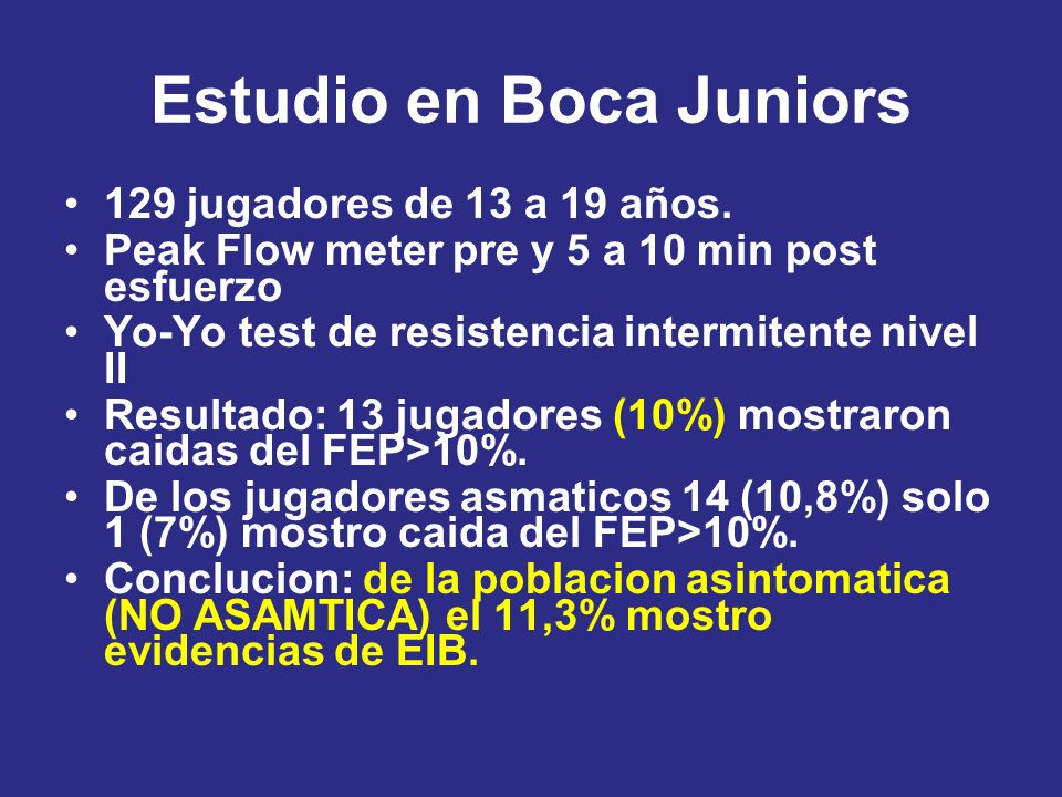 Estudio en Boca Juniors
