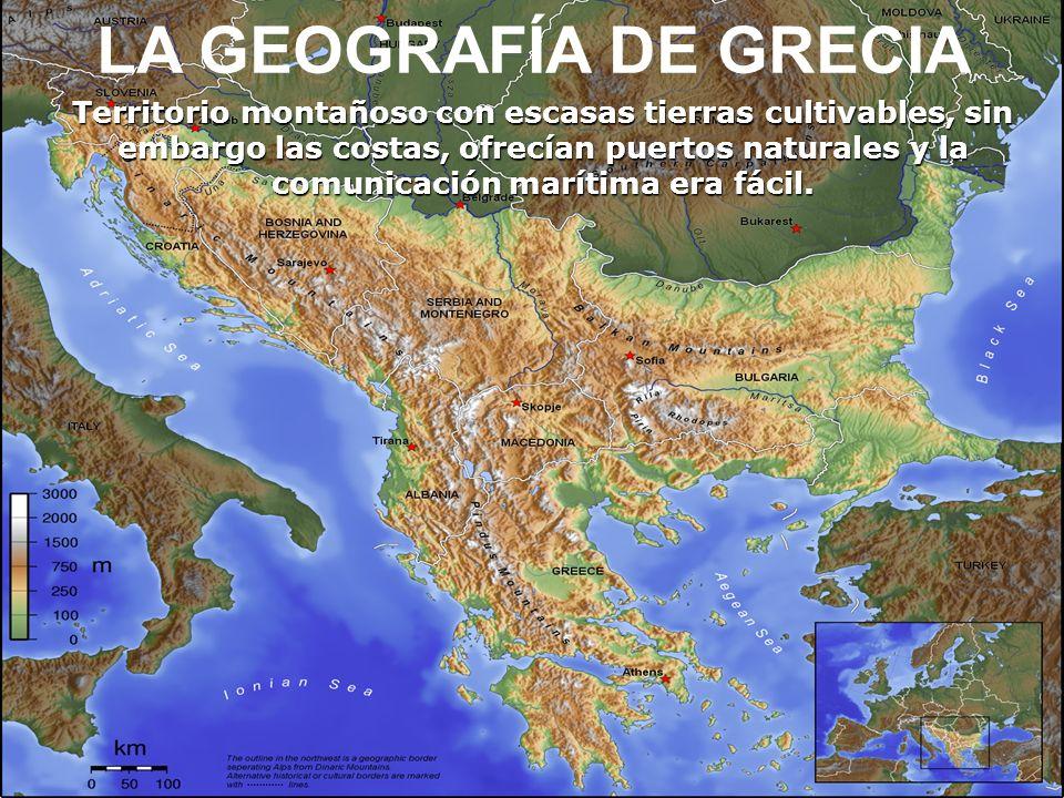 LA GEOGRAFÍA DE GRECIA