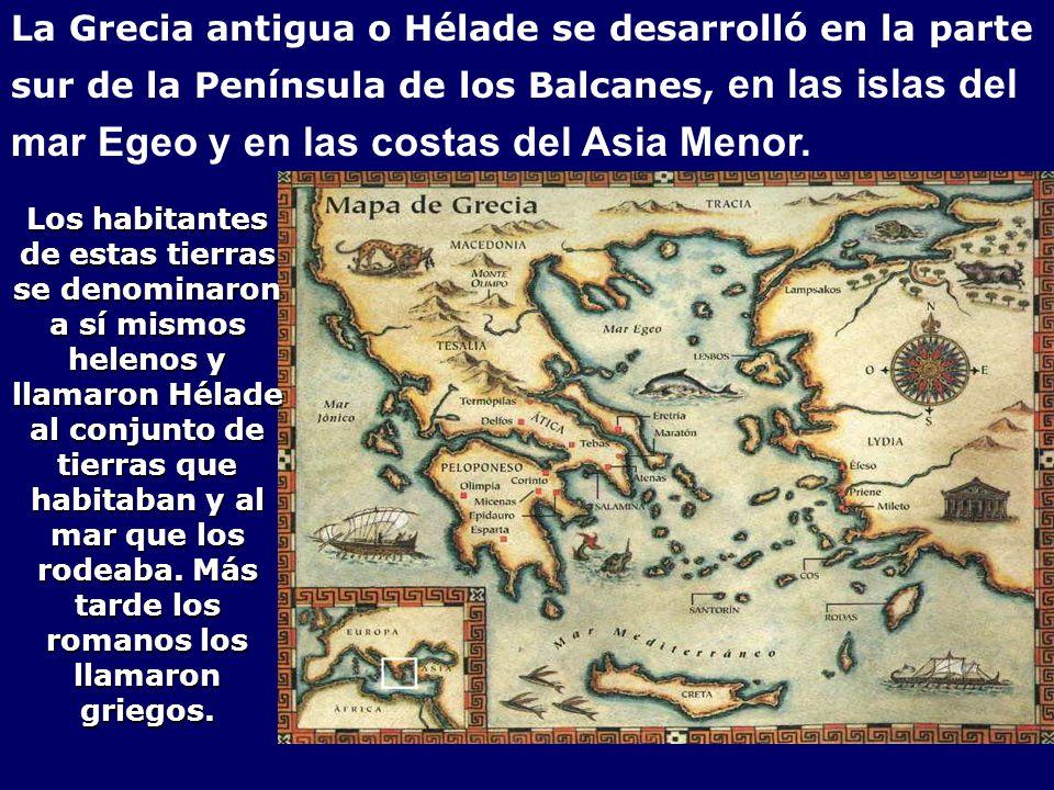 mar Egeo y en las costas del Asia Menor.