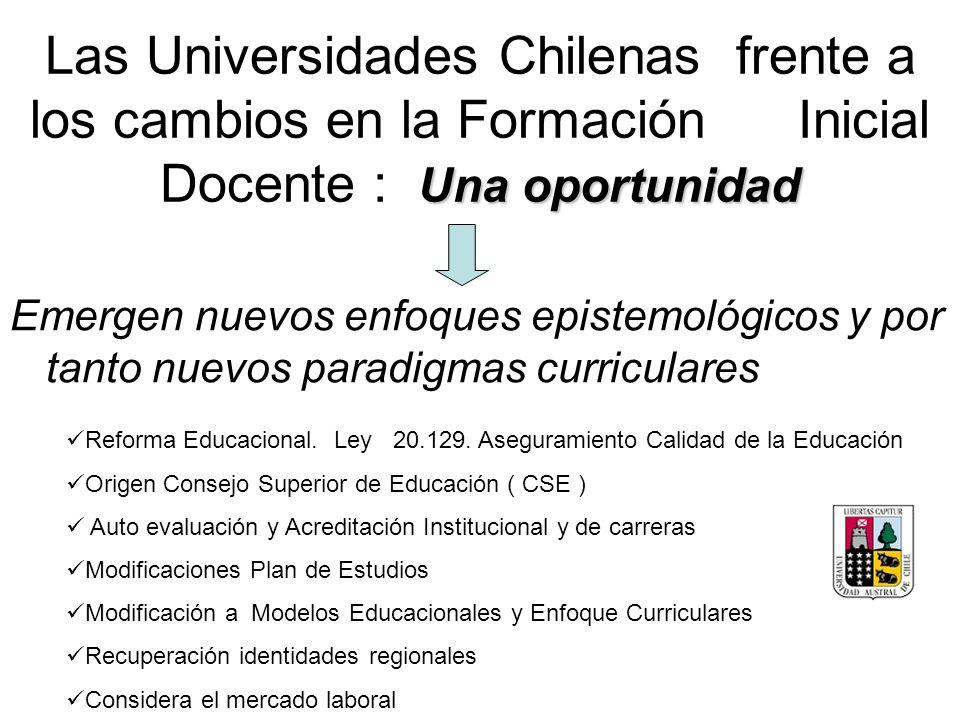 Las Universidades Chilenas frente a los cambios en la Formación