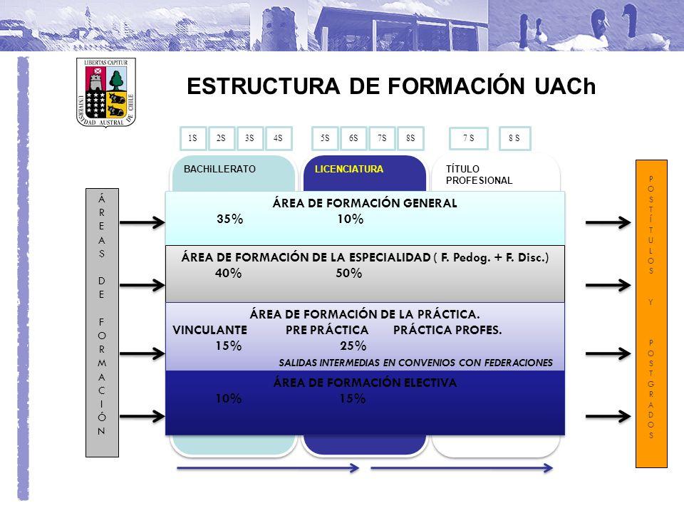 ÁREA DE FORMACIÓN DE LA PRÁCTICA.