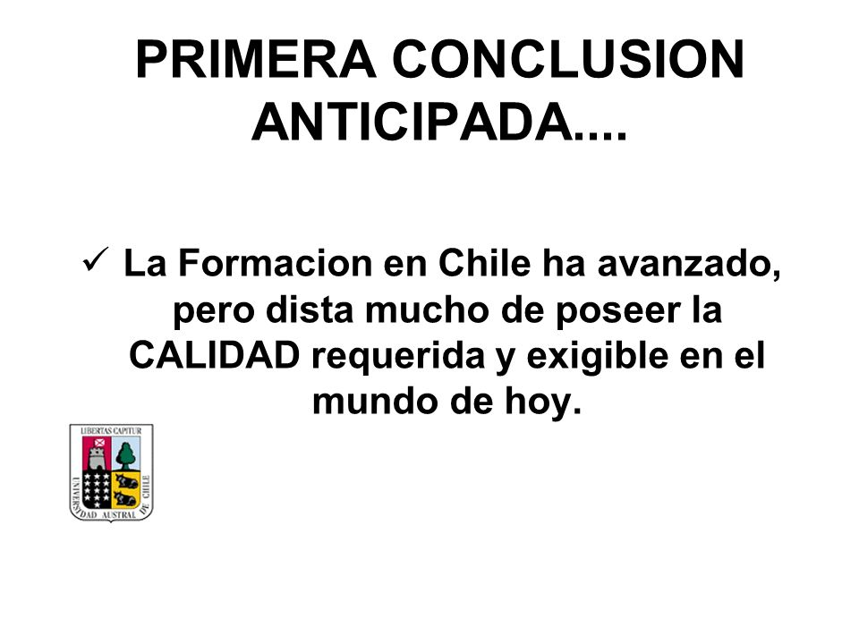 PRIMERA CONCLUSION ANTICIPADA....