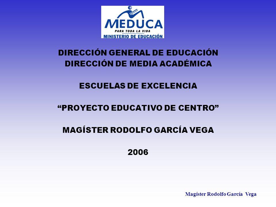 Magíster Rodolfo García Vega