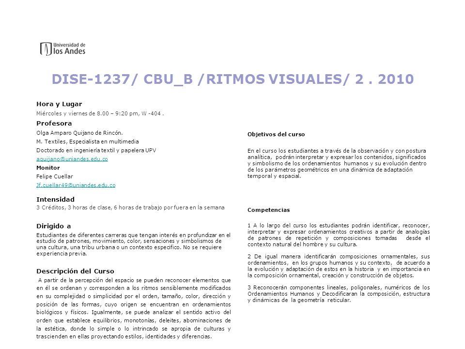 DISE-1237/ CBU_B /RITMOS VISUALES/ 2 . 2010