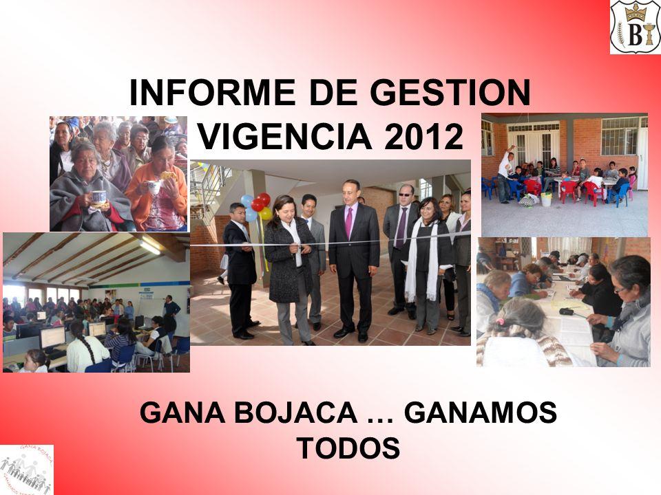 INFORME DE GESTION VIGENCIA 2012