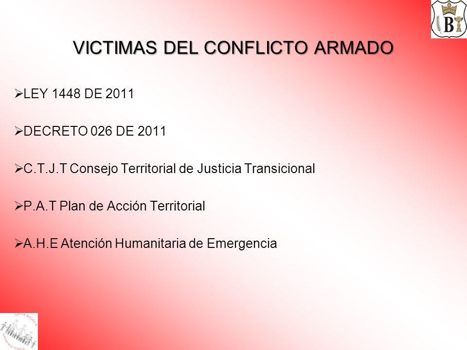 VICTIMAS DEL CONFLICTO ARMADO