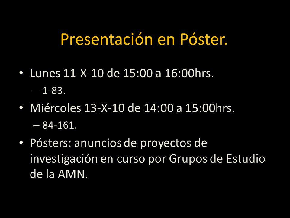 Presentación en Póster.