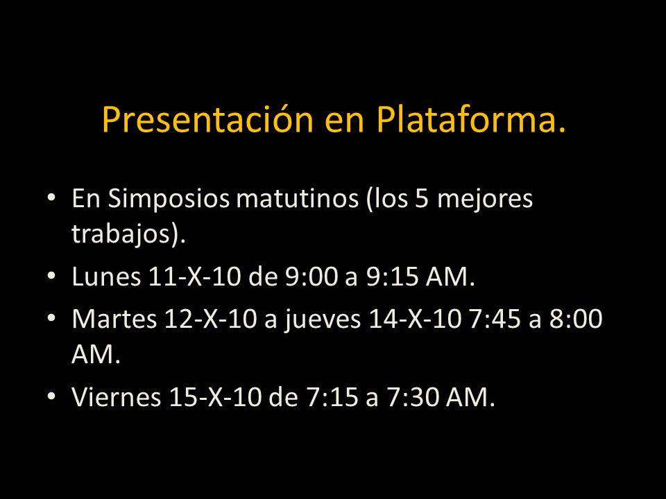 Presentación en Plataforma.
