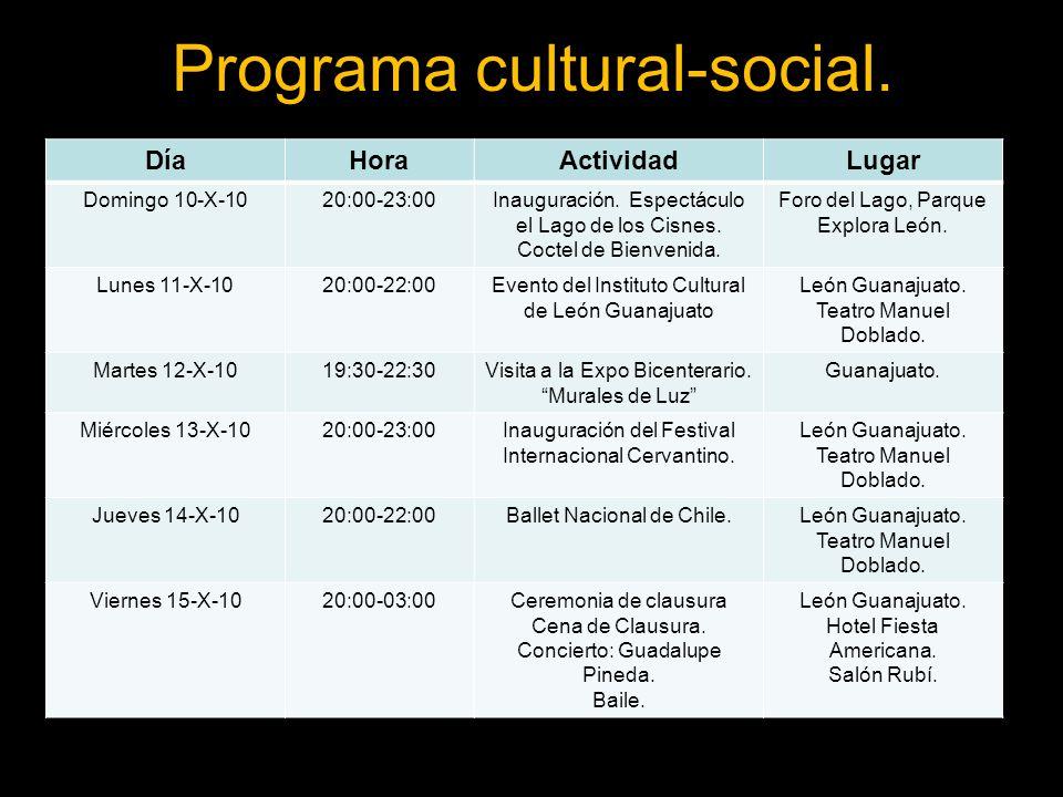 Programa cultural-social.