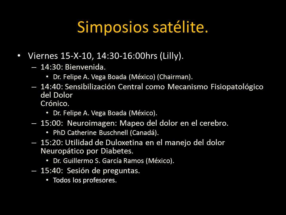 Simposios satélite. Viernes 15-X-10, 14:30-16:00hrs (Lilly).