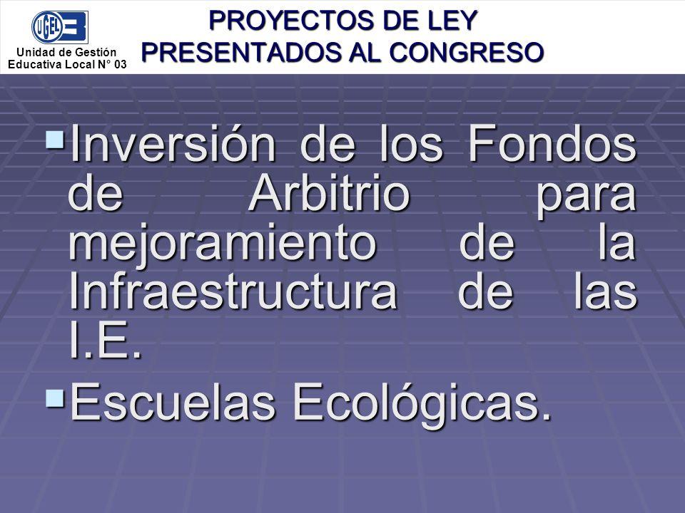 PROYECTOS DE LEY PRESENTADOS AL CONGRESO
