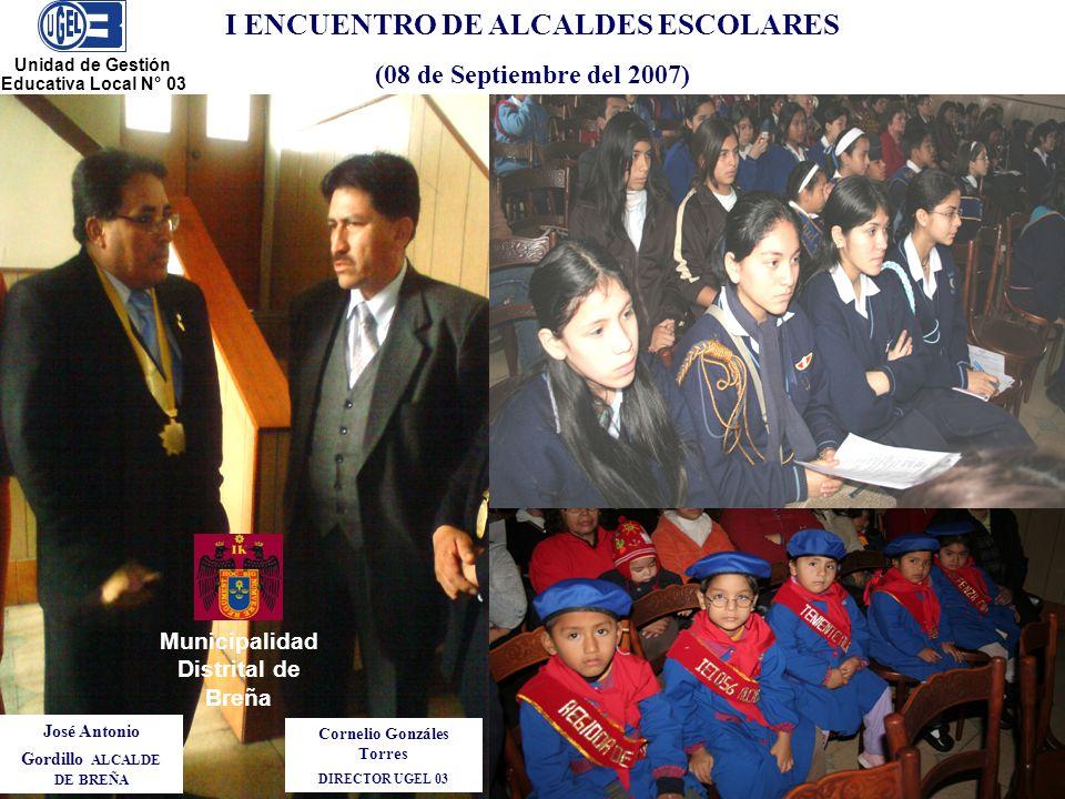 I ENCUENTRO DE ALCALDES ESCOLARES