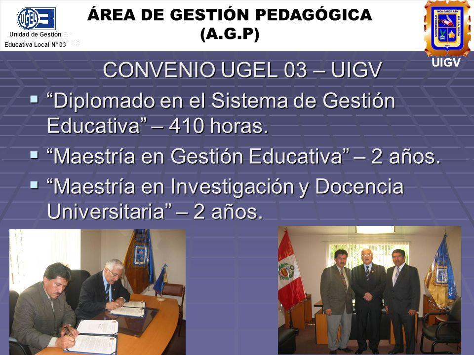 ÁREA DE GESTIÓN PEDAGÓGICA (A.G.P)