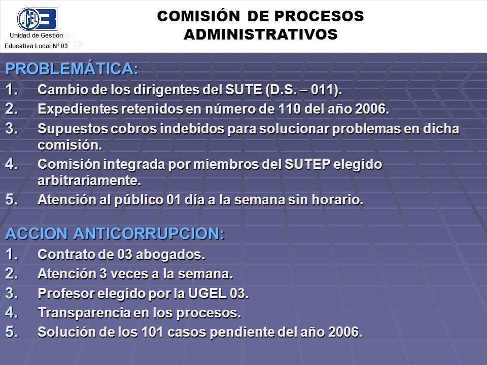 COMISIÓN DE PROCESOS ADMINISTRATIVOS