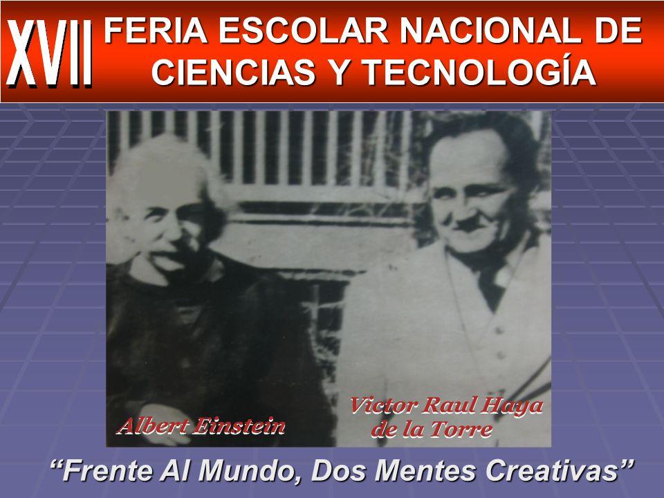 FERIA ESCOLAR NACIONAL DE CIENCIAS Y TECNOLOGÍA
