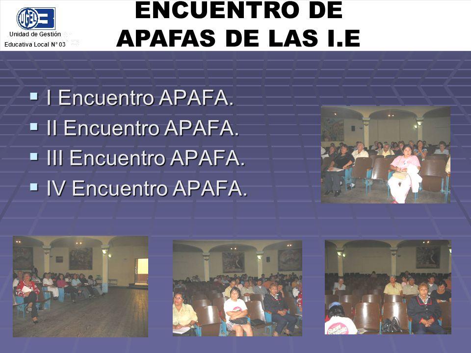 ENCUENTRO DE APAFAS DE LAS I.E