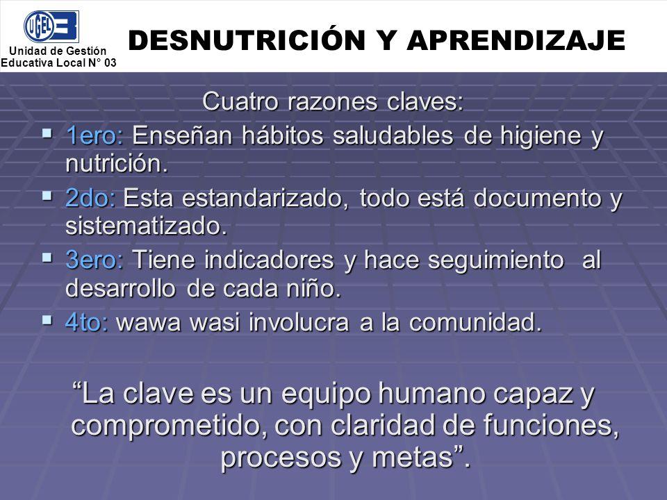 DESNUTRICIÓN Y APRENDIZAJE