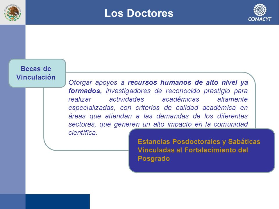 Los Doctores Becas de Vinculación