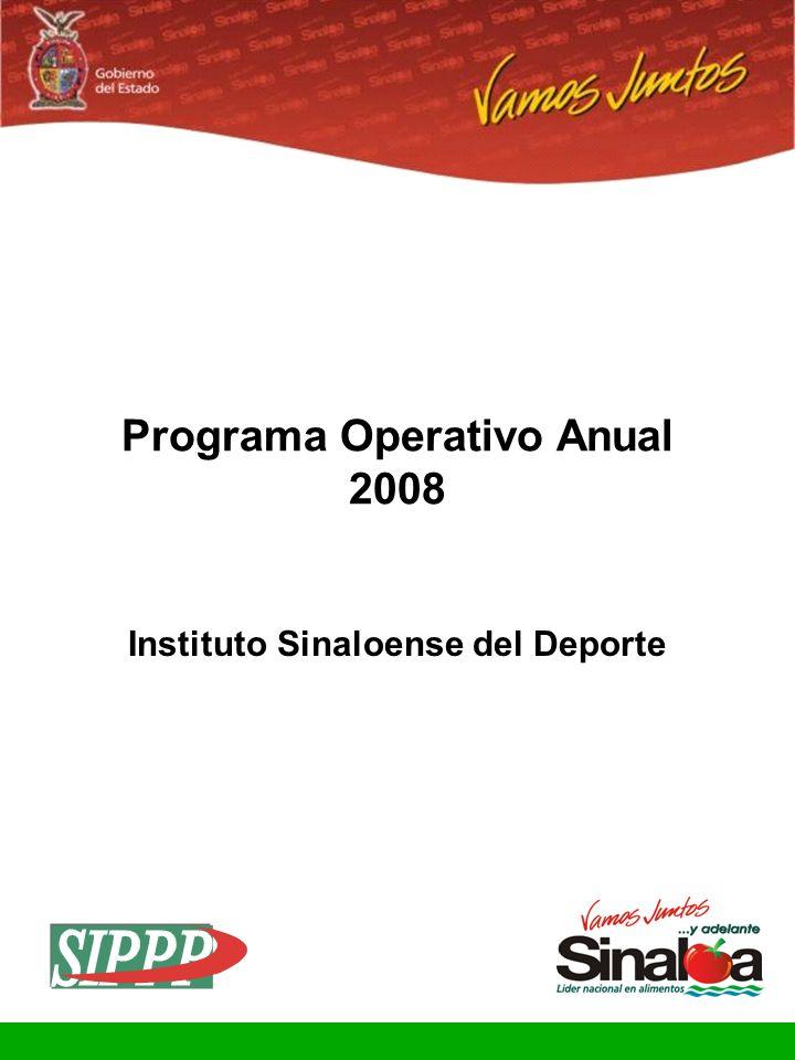 Programa Operativo Anual Instituto Sinaloense del Deporte