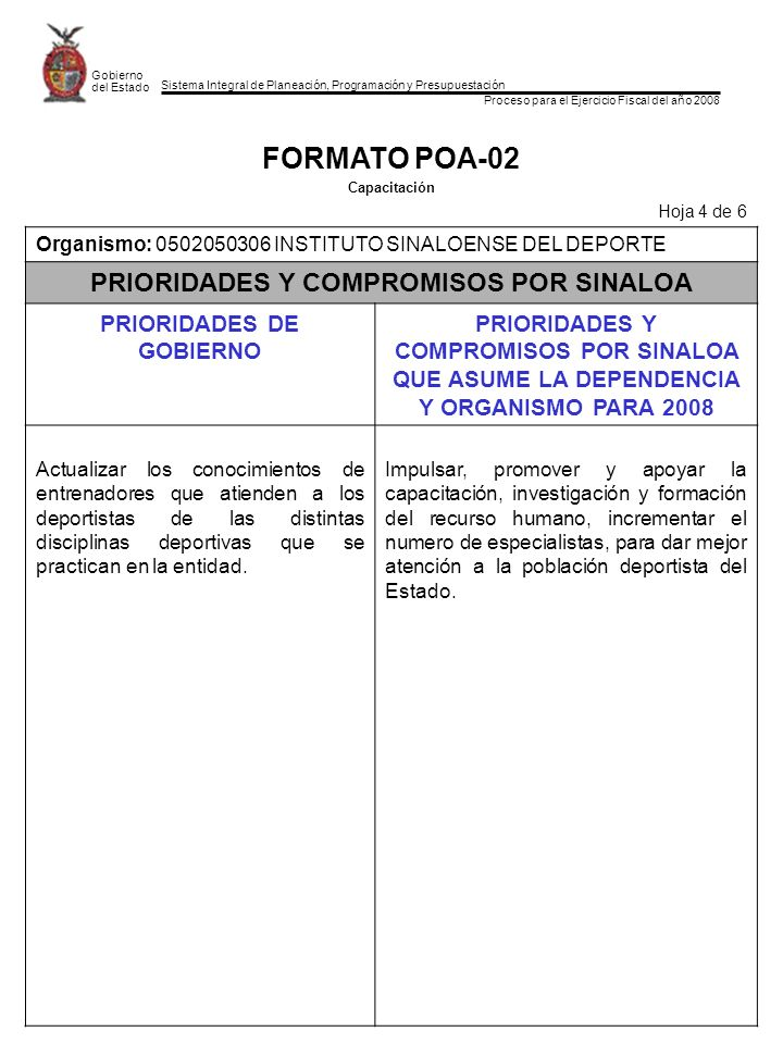PRIORIDADES Y COMPROMISOS POR SINALOA PRIORIDADES DE GOBIERNO