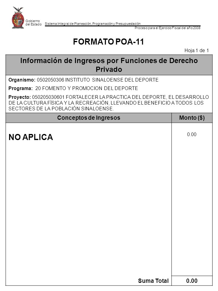 Información de Ingresos por Funciones de Derecho Privado