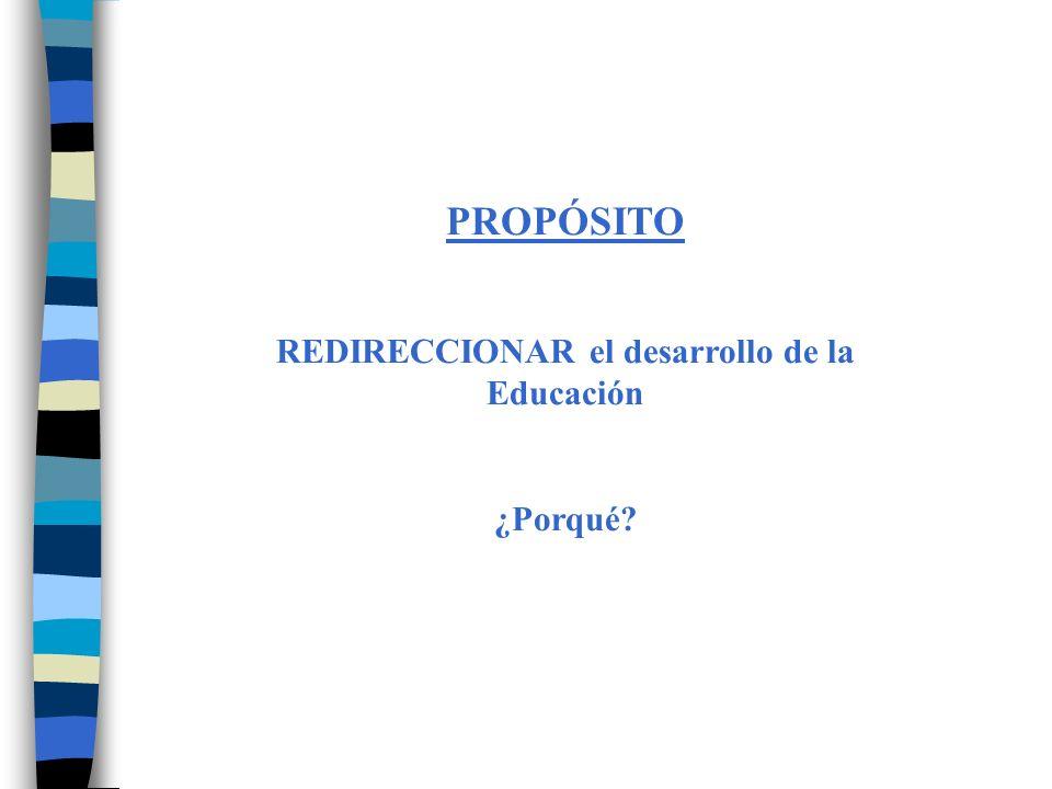 REDIRECCIONAR el desarrollo de la Educación
