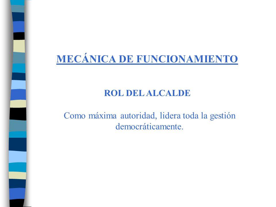 MECÁNICA DE FUNCIONAMIENTO