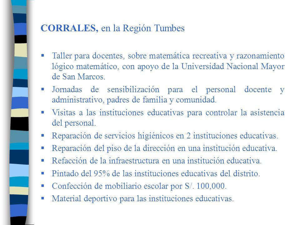 CORRALES, en la Región Tumbes
