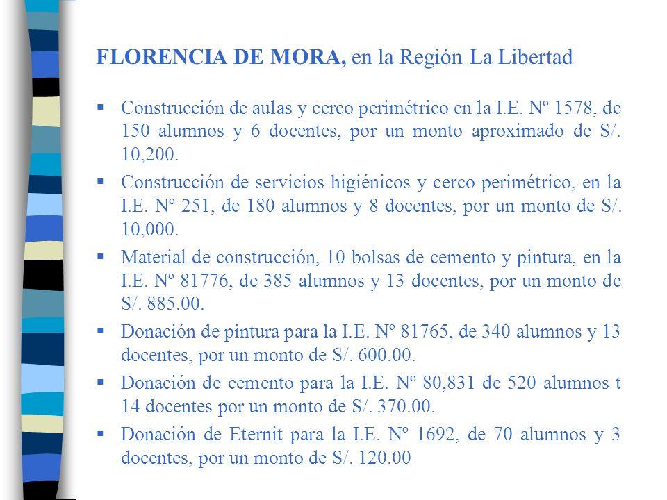 FLORENCIA DE MORA, en la Región La Libertad