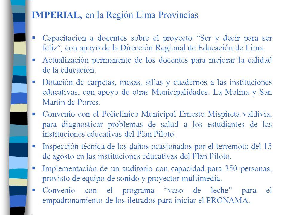 IMPERIAL, en la Región Lima Provincias