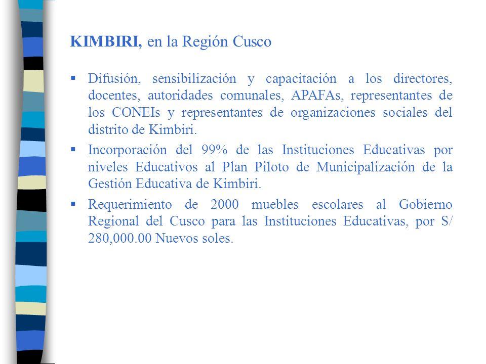 KIMBIRI, en la Región Cusco