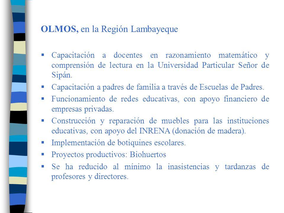 OLMOS, en la Región Lambayeque