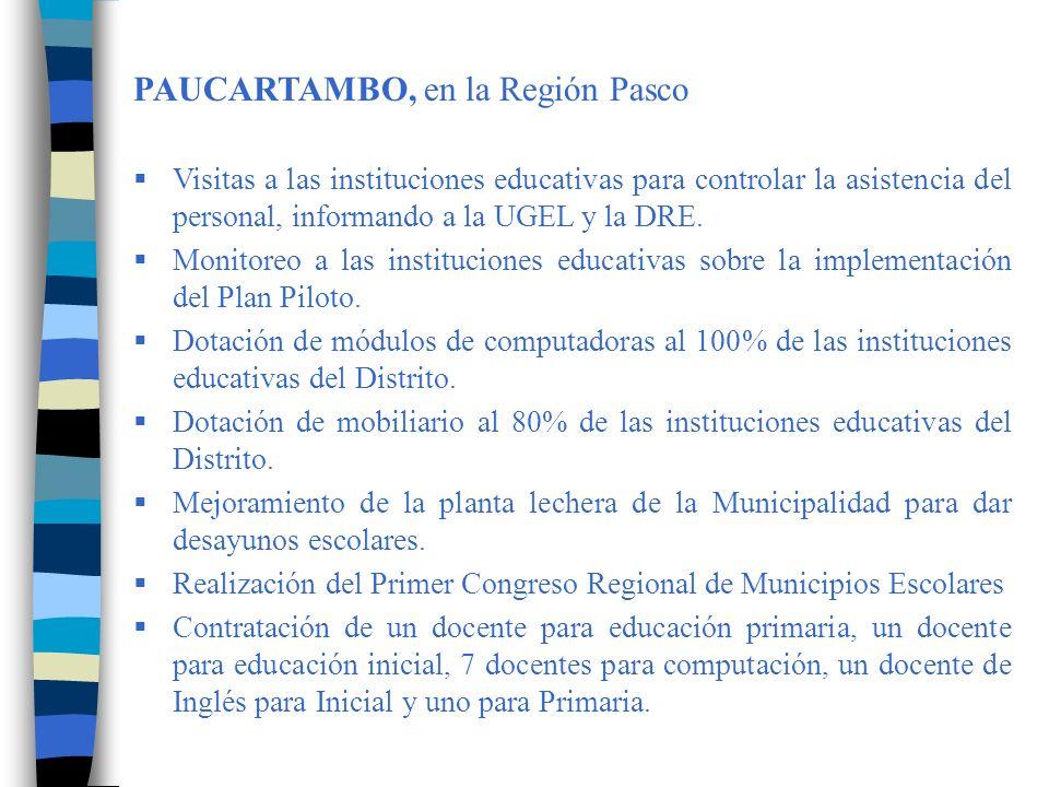 PAUCARTAMBO, en la Región Pasco