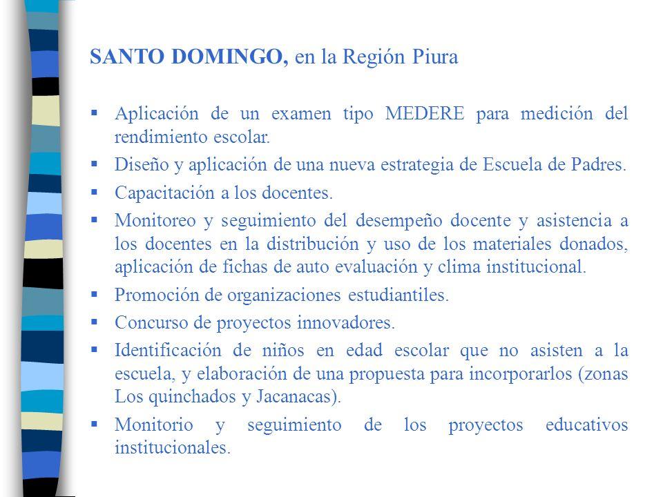 SANTO DOMINGO, en la Región Piura