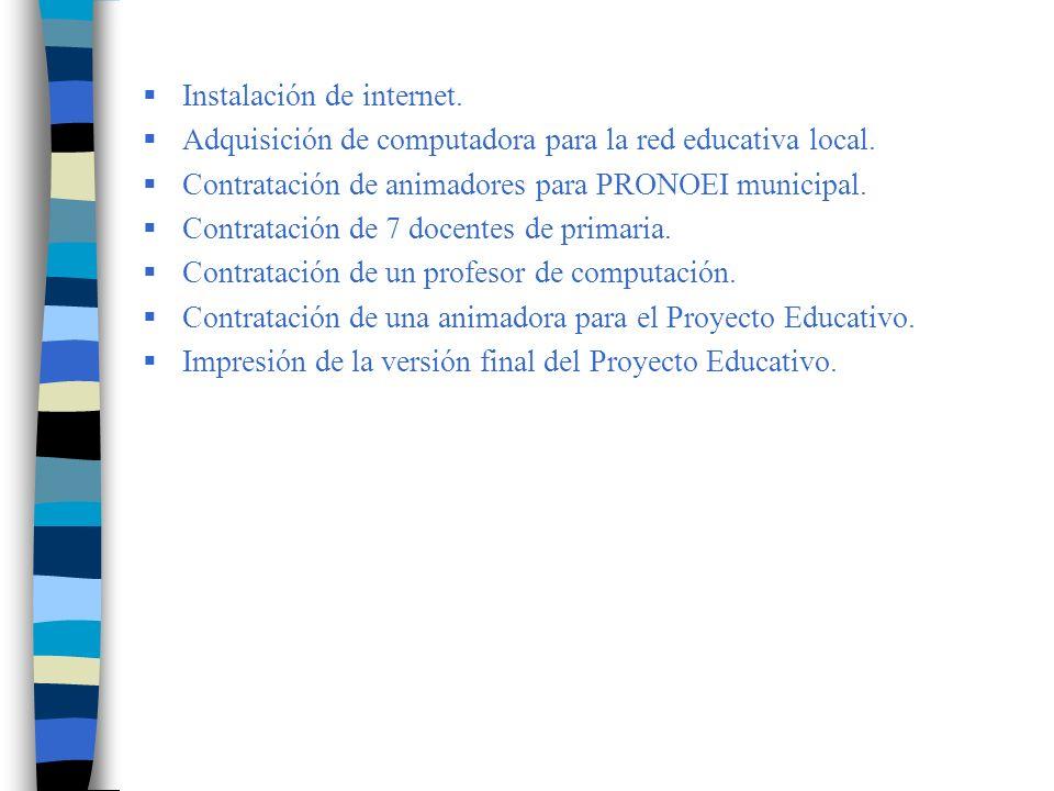 Instalación de internet.