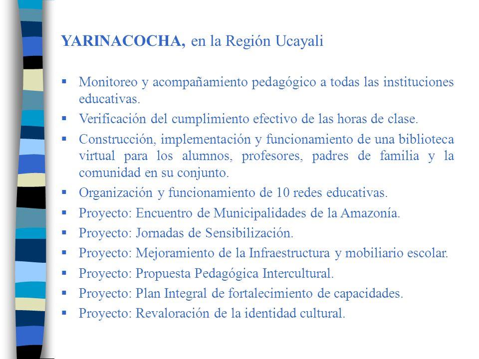 YARINACOCHA, en la Región Ucayali