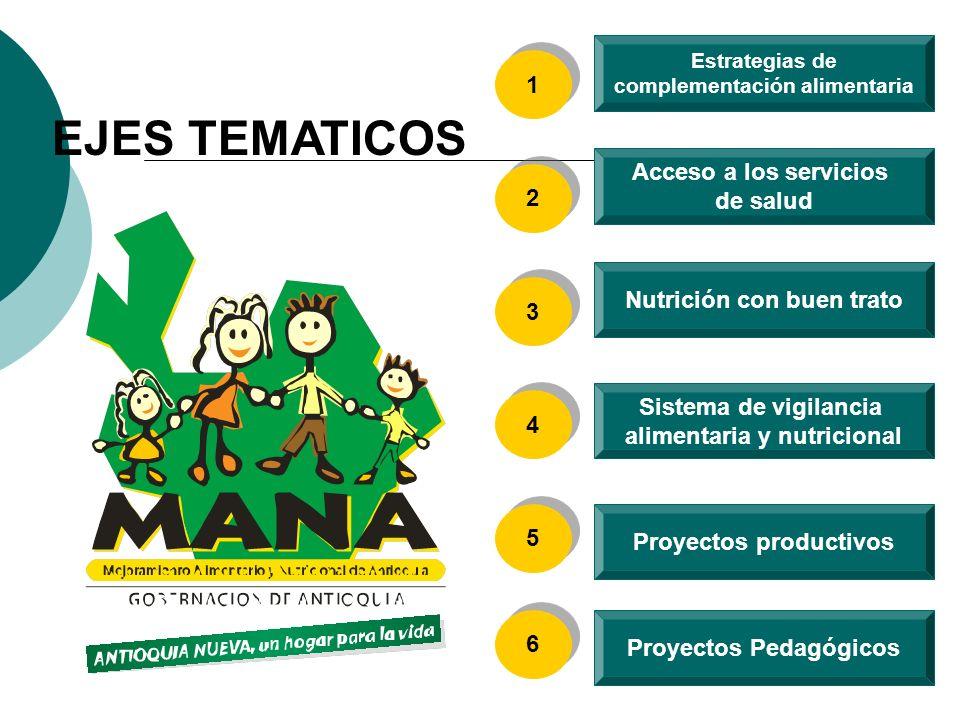 EJES TEMATICOS 1 Acceso a los servicios de salud 2