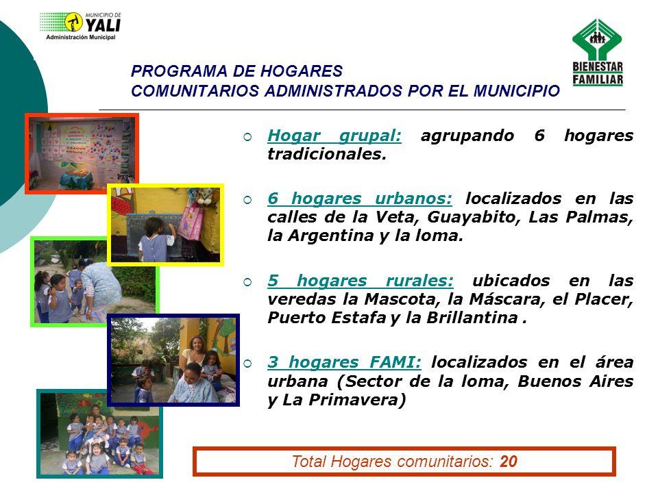 PROGRAMA DE HOGARES COMUNITARIOS ADMINISTRADOS POR EL MUNICIPIO
