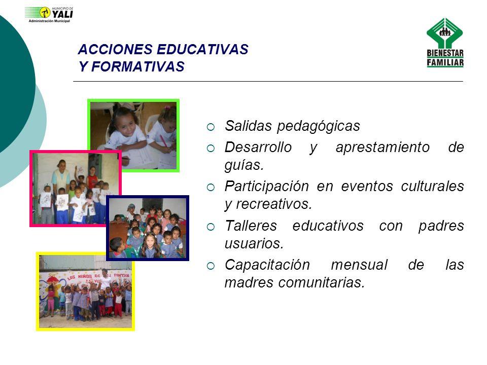 ACCIONES EDUCATIVAS Y FORMATIVAS