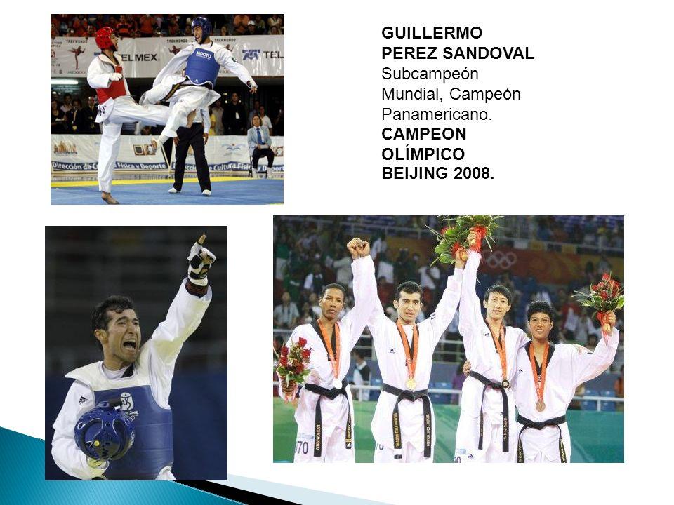 GUILLERMO PEREZ SANDOVAL Subcampeón Mundial, Campeón Panamericano