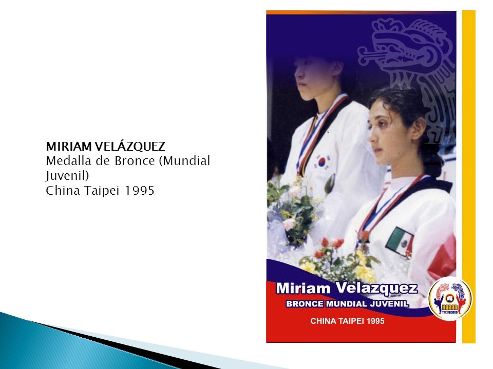 MIRIAM VELÁZQUEZ Medalla de Bronce (Mundial Juvenil) China Taipei 1995