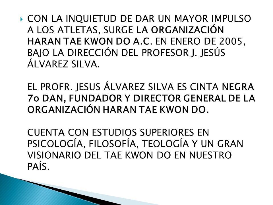 CON LA INQUIETUD DE DAR UN MAYOR IMPULSO A LOS ATLETAS, SURGE LA ORGANIZACIÓN HARAN TAE KWON DO A.C.