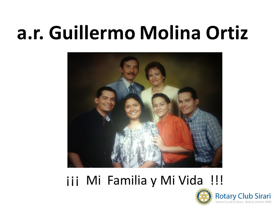 a.r. Guillermo Molina Ortiz