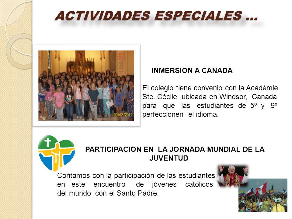 PARTICIPACION EN LA JORNADA MUNDIAL DE LA JUVENTUD